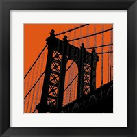Orange Manhattan Framed Print
