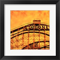 Flaming Cyclone Framed Print