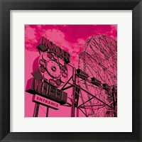 Framed Cotton Candy Wonder Wheel