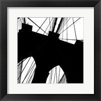 Brooklyn Bridge Silhouette (detail) Framed Print