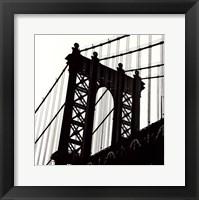 Framed Manhattan Bridge Silhouette (detail)
