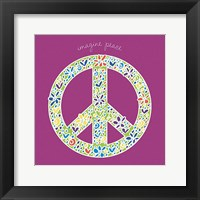Framed Imagine Peace