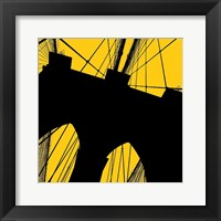 Brooklyn Bridge (yellow) Framed Print