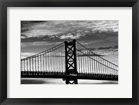 Framed Benjamin Franklin Bridge (b/w)