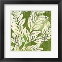 Meadow Leaves Framed Print