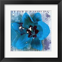 Framed Tulip Fresco (blue)