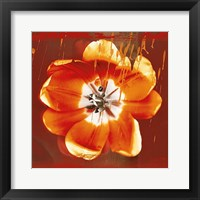 Tulip Fresco (red) Framed Print