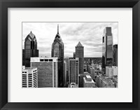 Framed Philly Skyline (b/w)