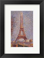 Framed Eiffel Tower, ca. 1889