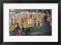 Framed Sunday Afternoon on the Island of Grand Jatte 1864-6
