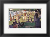 Sunday Afternoon on the Island of Grand Jatte 1864-6 Framed Print