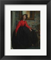 Framed Portrait of Mademoiselle, called Girl with Red Vest, February 1864