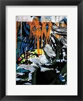 Framed Blue Orange Layers 3