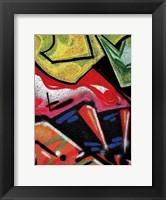 Framed Colorful Graffiti (detail