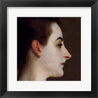 Framed Madame X (head detail)