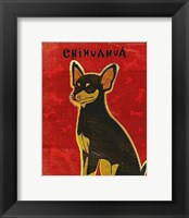Framed Chihuahua (black and tan)