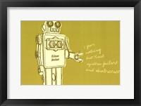Framed Lunastrella Robot No. 1