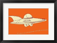 Lunastrella Flying Saucer Framed Print