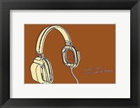 Lunastrella Headphones Framed Print