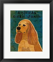 Framed American Cocker Spaniel (buff)