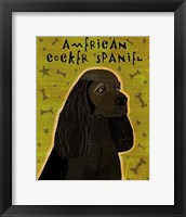 Framed American Cocker Spaniel (black)
