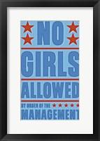 Framed No Girls Allowed