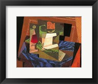 Framed Fruit Bowl on a Tablecloth