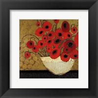 Framed Frida's Poppies