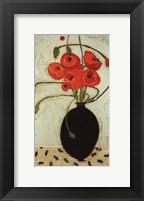 Framed Swirling Poppies