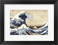 Framed Great Wave at Kanagawa