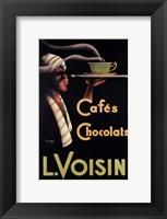 Framed L. Voisin Cafes & Chocolats, 1935