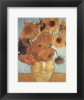 Framed Sunflowers on Blue, 1888