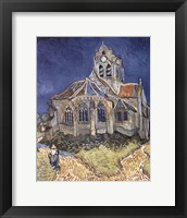 Framed Church at Auvers