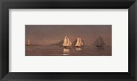 Framed Gloucester, Mackerel Fleet at Dawn, 1884