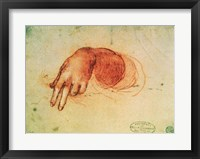 Framed Study of a hand