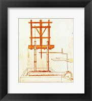 Framed Hydraulic Water Pump for a Fountain