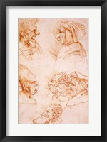 Framed Seven Studies of Grotesque Faces