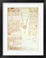 Framed Studies of the Illumination of the Moon 1r from Codex Leicester