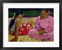 Framed Women of Tahiti, On the Beach, 1891
