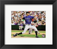 Framed Ubaldo Jimenez 2011 pitching action