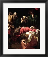 Framed Death of the Virgin, 1605-06