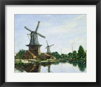 Framed Dutch Windmills, 1884