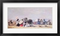 Framed Beach Scene, Trouville, 1873