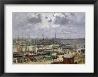 Framed Port of Bordeaux, 1874