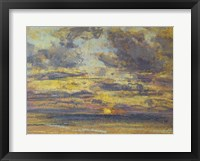 Framed Study of the Sky with Setting Sun, c.1862-70