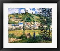 Framed Landscape at Chaponval, 1880