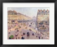 Framed Avenue de L'Opera, Paris, Sunlight, Winter Morning, c.1880
