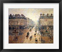 Framed Avenue de L'Opera, Paris, 1898