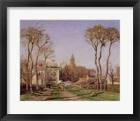Framed Entrance to the Village of Voisins, Yvelines, 1872