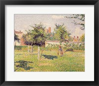 Framed Woman in the Meadow at Eragny, Spring, 1887